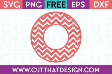 Cut That Design Circle Frame Chevron Pattern SVG