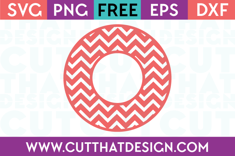 Cut That Design Circle Frame Chevron Pattern SVG