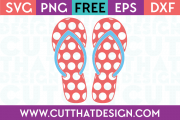 Cut That Design Flip Flop SVG
