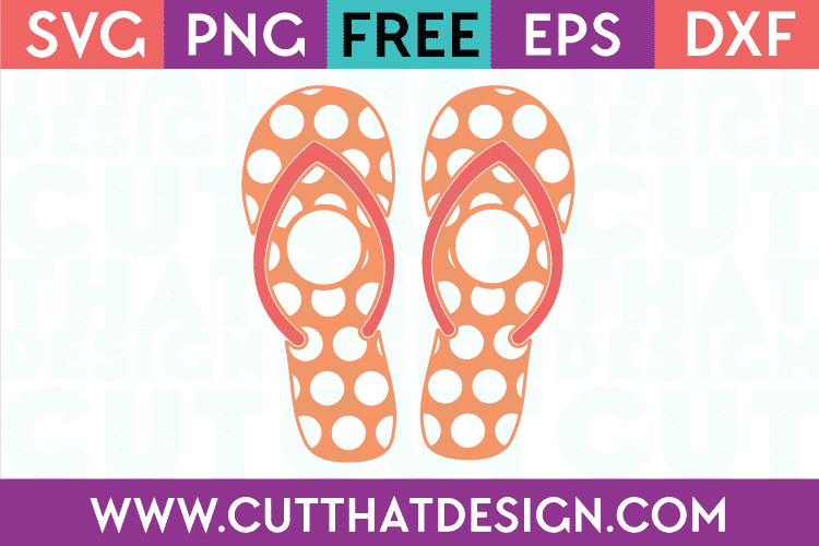Cut That Design Polka Dot Monogram Flip Flop SVG
