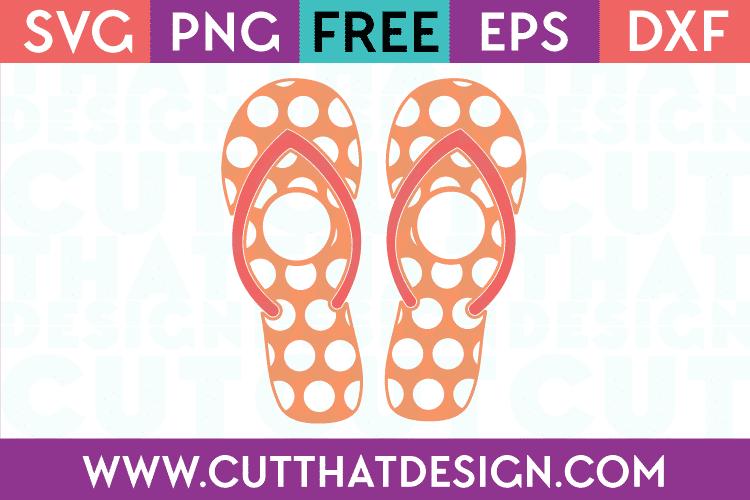 Cut That Design Polka Dot Monogram Flip Flop SVG