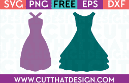 Cut That Design Wedding Dress SVG