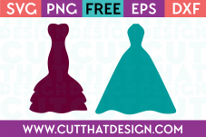 Cut That Design Wedding Dress Set SVG