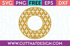 Cut That Design Fleur De Lis Monogram Frame SVG