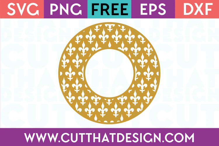 Cut That Design Fleur De Lis Monogram Frame SVG