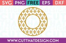 Cut That Design Free SVG Cutting Files Monogram Frame