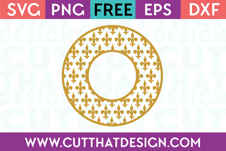 Cut That Design Free SVG Cutting Files Monogram Frame