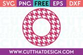 Cut That Design Houndstooth Circle Frame SVG