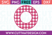 Cut That Design Houndstooth Circle Frame SVG