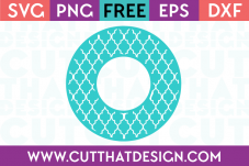 Cut That Design Circle Monogram Moroccan Pattern SVG