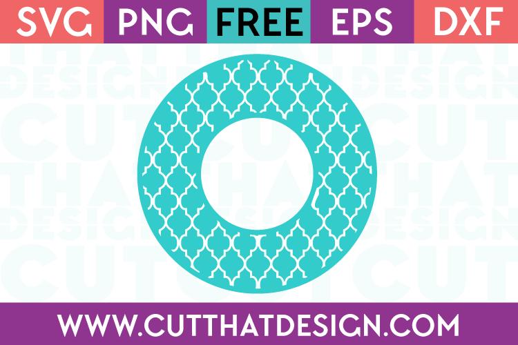 Moroccan Pattern Circle Monogram Frame Design 1