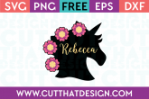 unicorn head svg free