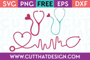 Cut That Design SVG Files Nurse Themed