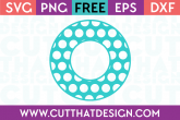 Cut That Design Polka Dot Monogram Circle Frame SVG