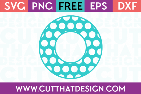 Cut That Design Polka Dot Monogram Circle Frame SVG