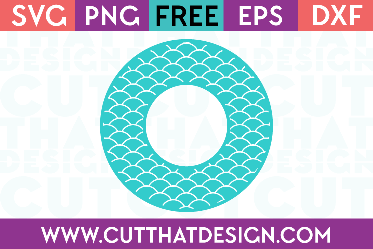 Free Scallop Pattern Monogram Circle Frame SVG File