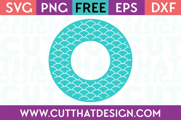 Free Scallop Pattern Monogram Circle Frame SVG File