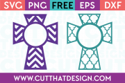 Cut That Design Monogram Cross Designs Set 1 SVG
