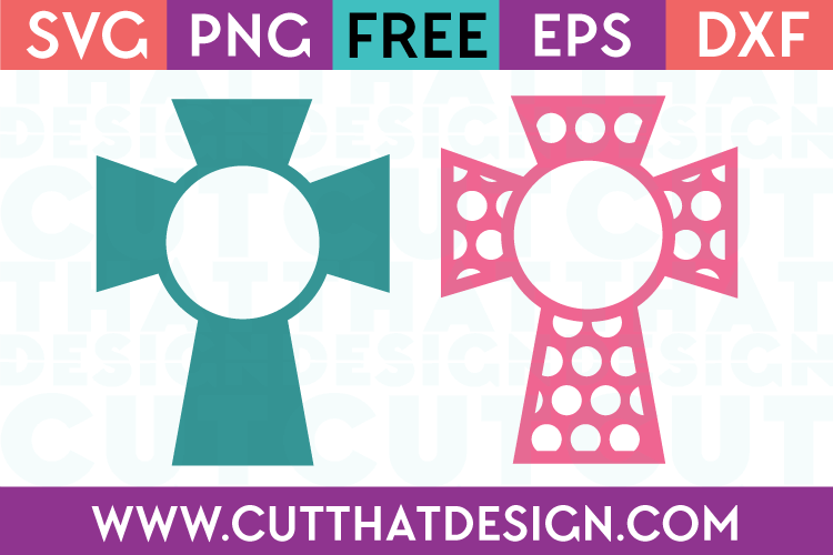 Cut That Design SVG Free Cross Monogram