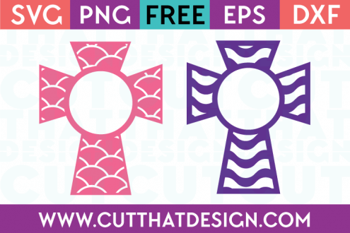 Scallop and Wavy Monogram Cross Designs Free