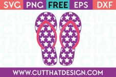 Cut That Design Star Pattern Flip Flop SVG