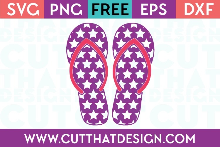Cut That Design Star Pattern Flip Flop SVG