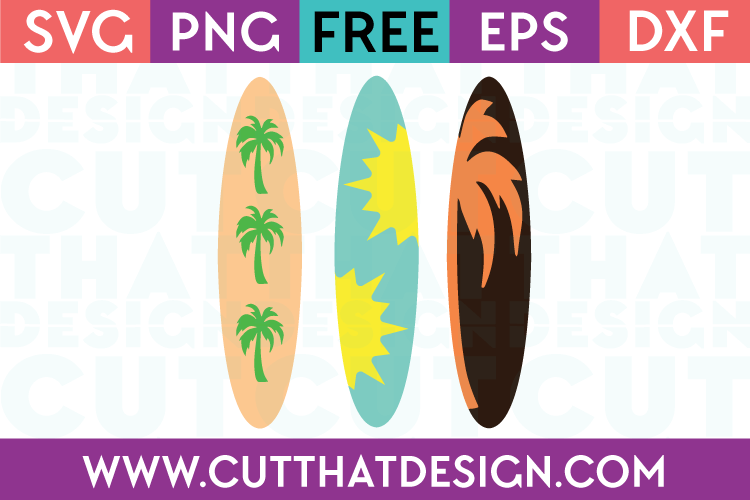 Free Surfboard SVG Files