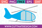 Free Helicopter SVG Cutting File