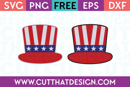 Free SVG Files Uncle Sam Hat Patriotic Designs