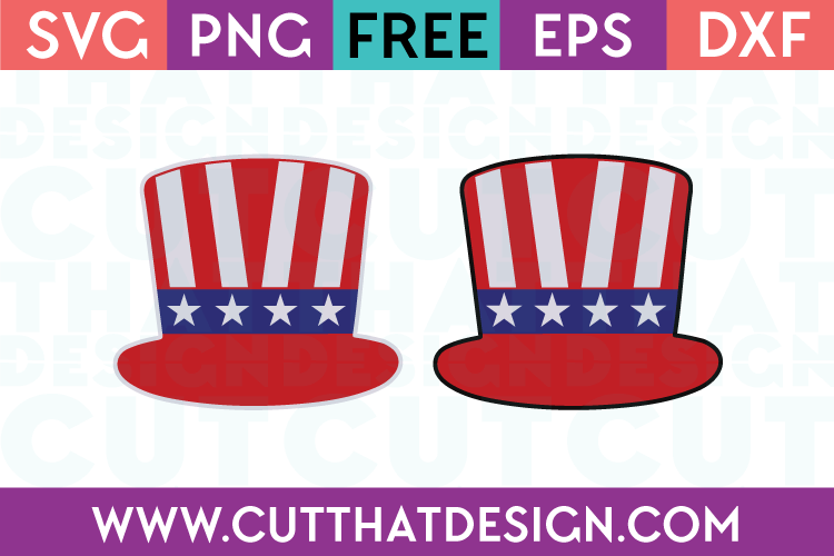 Free SVG Files Uncle Sam Hat Patriotic Designs