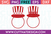 Free SVG Files Uncle Sam Hat Circle Monogram Designs 2