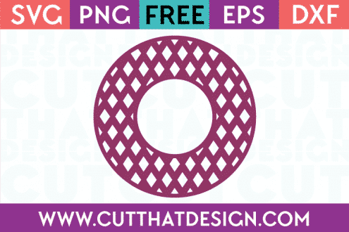 Cut That Design Circle Frame Free SVG Cutting Files