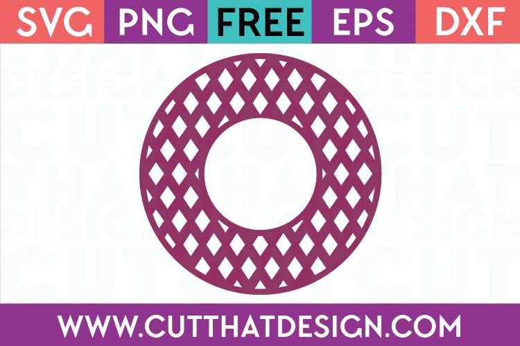 Cut That Design Circle Frame Free SVG Cutting Files