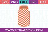 Cut That Design Free Mason Jar SVG Cutting Files Chevron Pattern