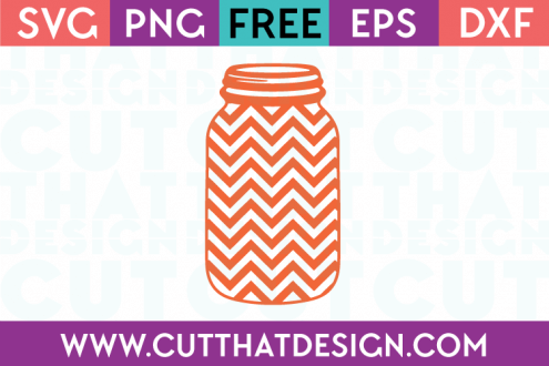 Cut That Design Free Mason Jar SVG Cutting Files Chevron Pattern