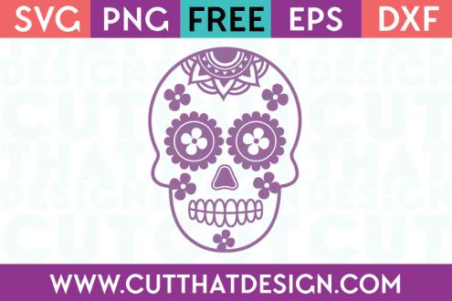 Sugar Skull SVG Free