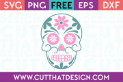 Halloween Sugar Skull Free SVG