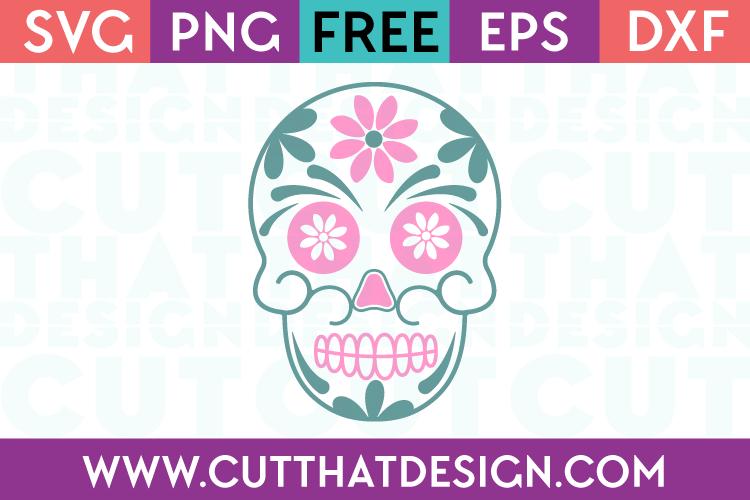 Halloween Sugar Skull Free SVG