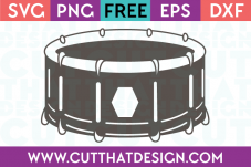 Snare Drum SVG Free