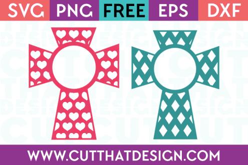 SVG Monogram Crosses