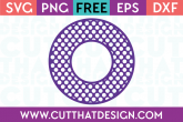 Cut That Design Circle Frame Polka Dot SVG