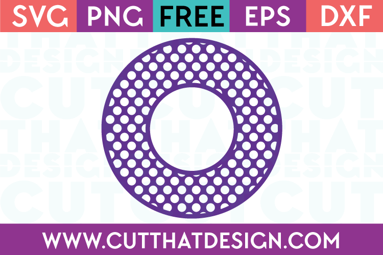 Cut That Design Circle Frame Polka Dot SVG