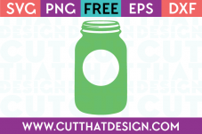 Mason Jar Free SVG Cutting File Cut That Design
