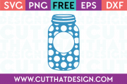 Polka Dot Mason Jar SVG