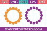 Polka Dot Circle Frame SVG Cutting Files from Cut That Design