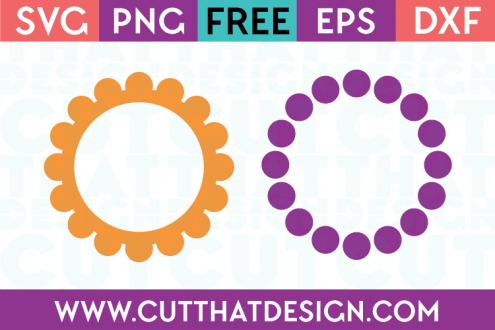 Polka Dot Circle Frame SVG Cutting Files from Cut That Design