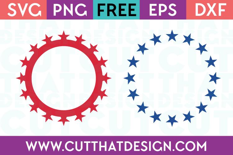 Free SVG Files Star Circle Monogram Design Set 2