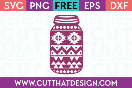 Aztec Mason Jar SVG