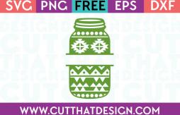 Mason Jar SVG Aztec