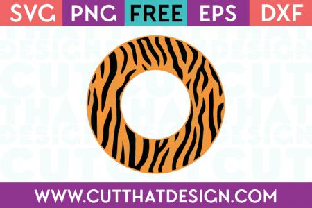 Tiger Print Circle Frame SVG